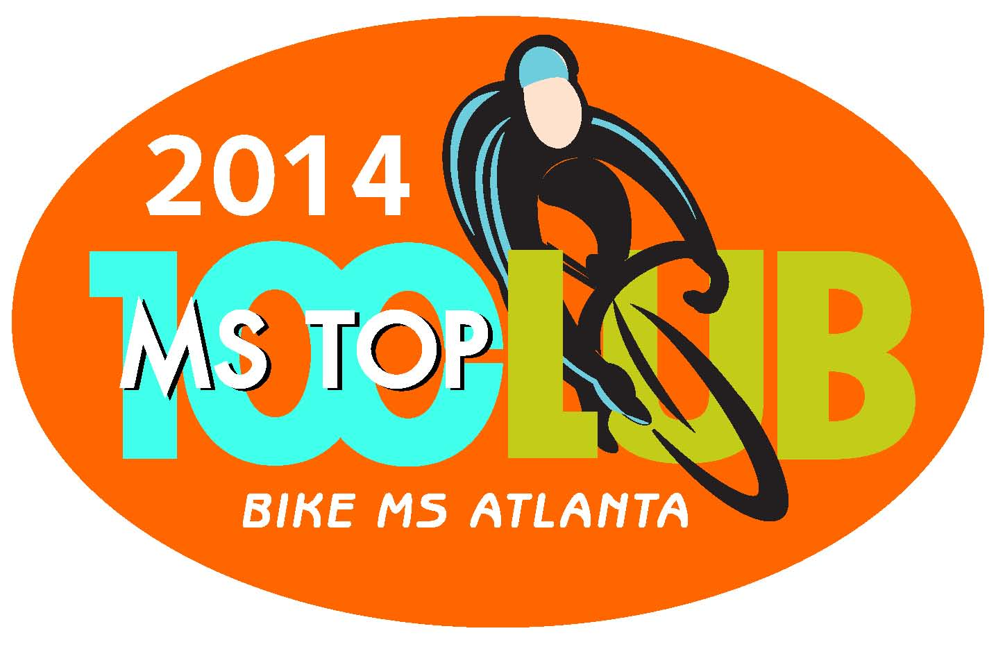 2014 Bike MS Top 100 Logo